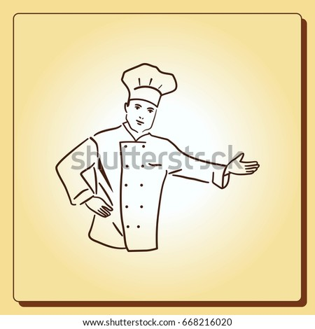 Cook icon, vector illustration.