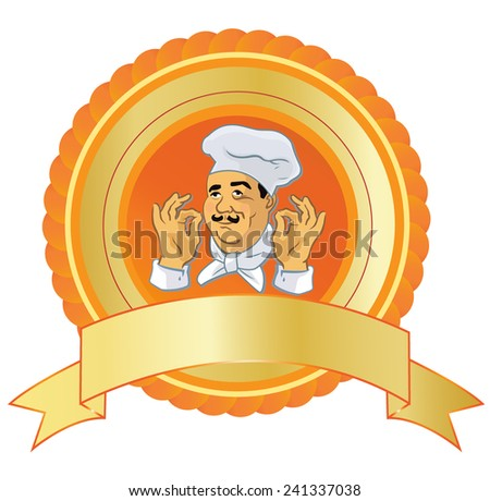 Cook, poster - stock vector