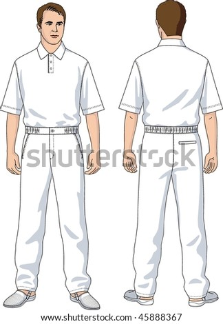 Cook trousers white man's with a pocket