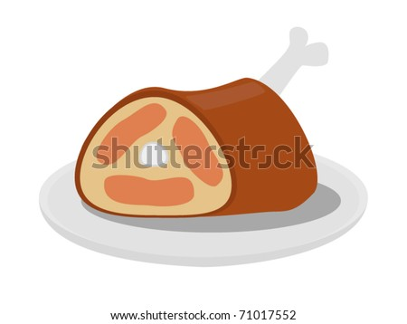 Cooked Meat Vector