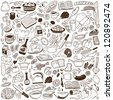 Cookery - doodles collection - stock vector