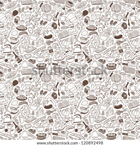 Cookery - seamless background - stock vector