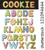 Cookie Alphabet Illustration A through Z EPS 8 vector no open shapes or paths. - stock photo