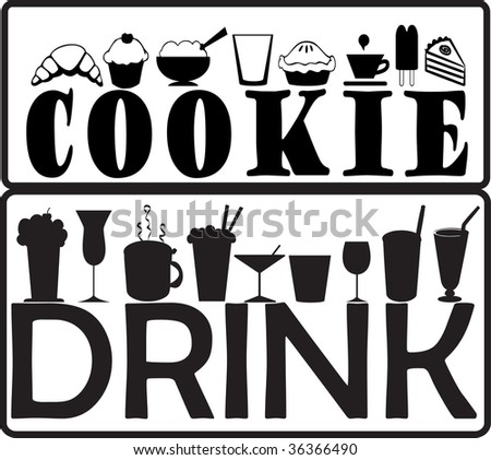 cookie and drink - stock vector