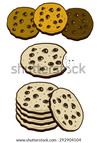 Cookies biscuits (vector) - stock vector
