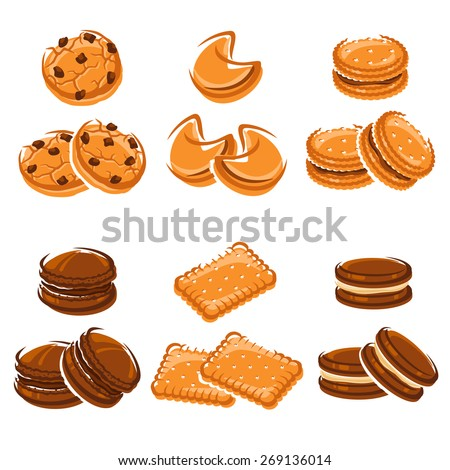 Cookies set. Vector - stock vector