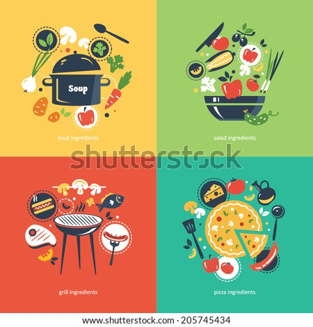 Cooking collection compositsion - stock vector