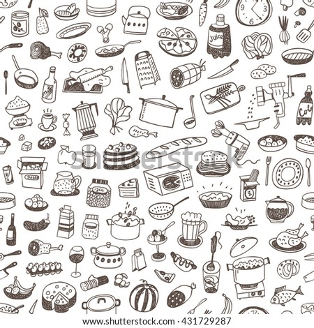 cooking food seamless background