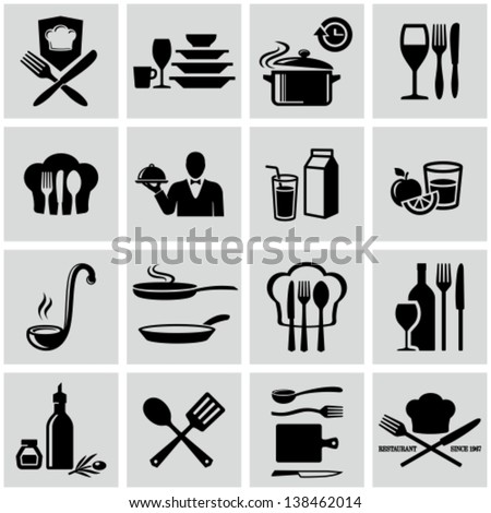 Cooking icons - stock vector