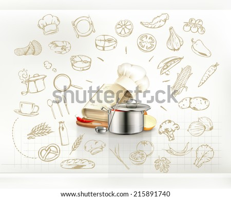 Cooking infographics, vector - stock vector