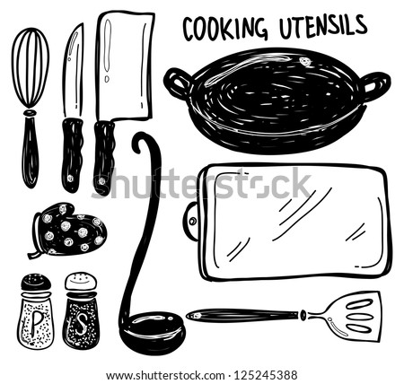cooking utensils - stock vector