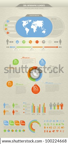 cool and high detailed infographic elements - stock vector