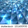 cool blue shiny perspective background - stock vector