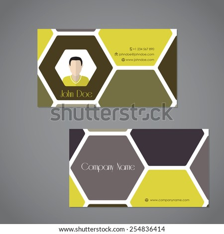 Cool business card with two sided design - stock vector