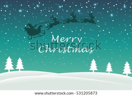 Cool christmas greetings message background winter stock vector cool christmas greetings and message with background of winter vector m4hsunfo