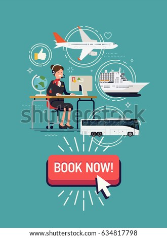 Travel World Vector Concept Layout Travel Stock Vector 391232062