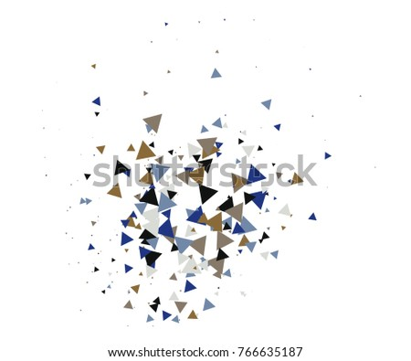 Cool Explosion, Broken Glass, Vector Grunge Blast, Falling Triangle Fragments, Dirty Shatter Concept. Mud, Burst, Boom, Bang Textured Background. Green, Brown Shatter Particles Isolated. Moving Galaxy