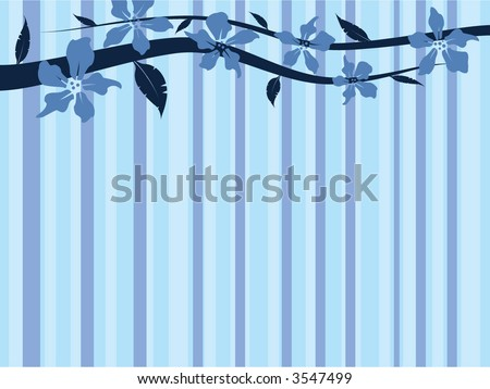 cool floral design - stock vector
