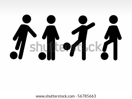 cool football pictos - stock vector