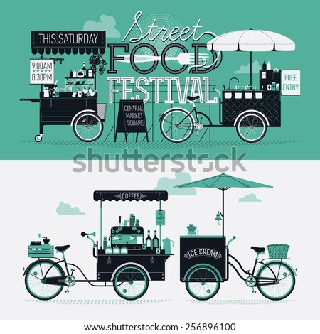 Vector Portable Coffee Maker : Street Food Festival Event Vector Graphic Stock Vector 257085784 - Shutterstock