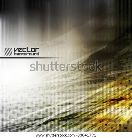 cool grunge metal vector background - stock vector