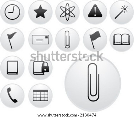 cool light icons (2 of 5) - stock vector