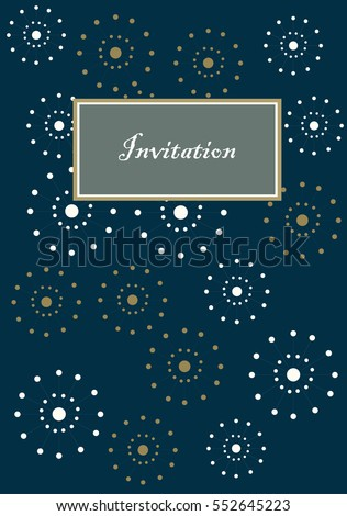 Cool looking vector invitation card party stock vector 552645223 cool looking vector invitation card for party and other events like birthday weeding inauguration stopboris Choice Image