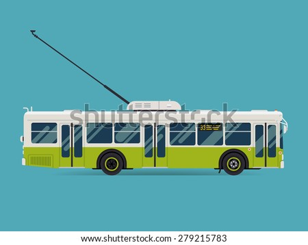 Trolley Bus Clipart