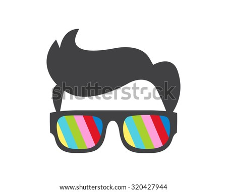 Cool nerd - stock vector