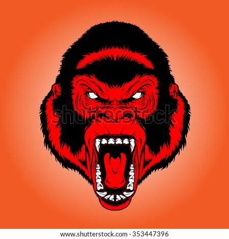 cool red monkey stock vector 353447396 shutterstock. Black Bedroom Furniture Sets. Home Design Ideas