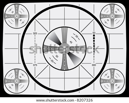 Cool Retro Television Test Pattern - stock vector