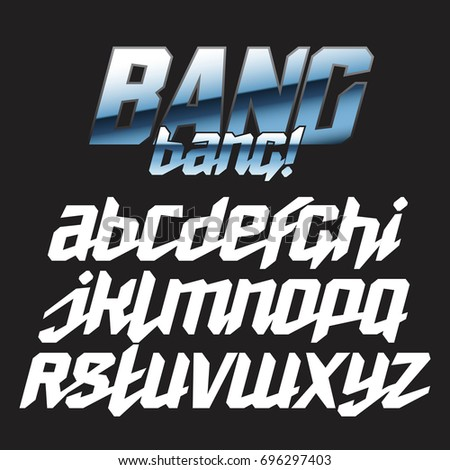 Cool Strong Futuristic Alphabet Lettering Font