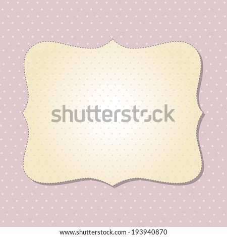 Cool template frame design for greeting card, vector illustration