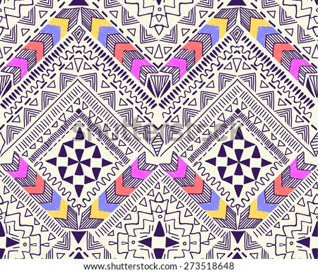 Cool tribal geometric design ~ seamless background - stock vector