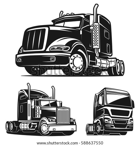 cool truck black white illustration vector stock vector royalty