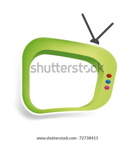 Cool tv in vector art - stock vector