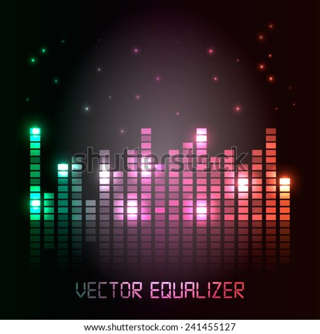 Cool vector equalizer background for club, radio, party, concerts or the audio technology advertising background.