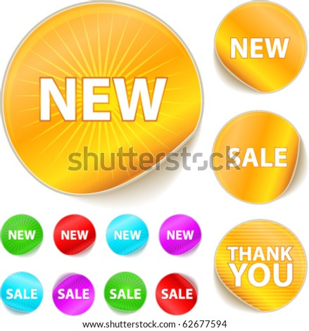 Cool vector stickers. You can use it on your business website. - stock vector