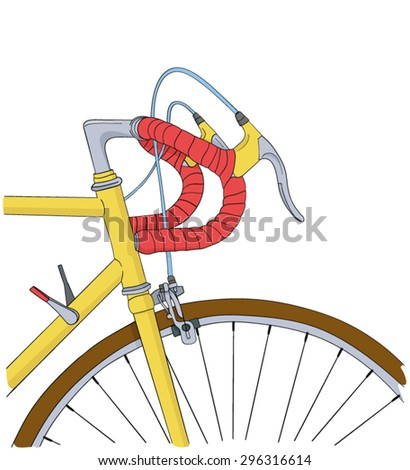 cool vintage bicycle background - stock vector