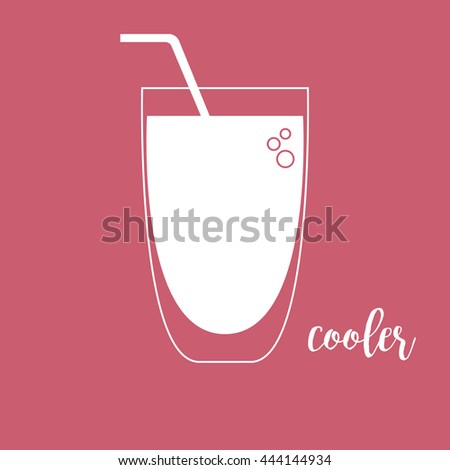 Cooler glass icon - stock vector