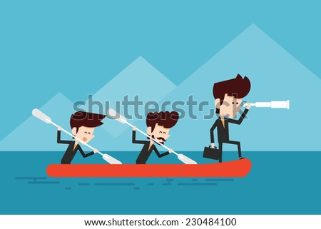cooperation/ teamwork concept - stock vector