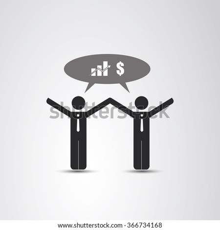 Cooperation - The Real Leader - Business Men Icon