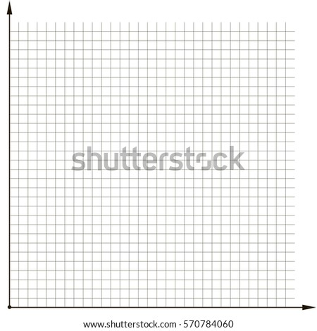 coordinate grid template chart analyze chart stock vector royalty