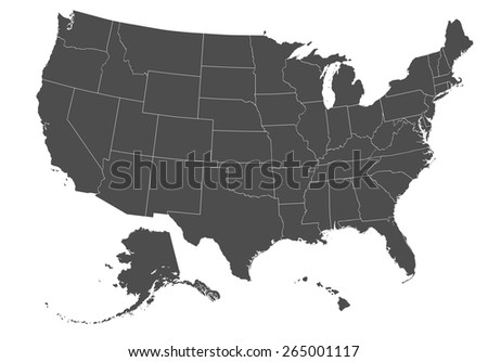 Copper Map Of United States Of America With Border