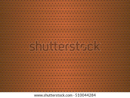 Copper plate with symmetrical holes
