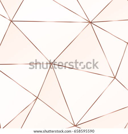 vector marble background copper triangles geometric stock vector