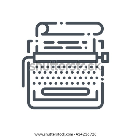 Copy writing icon suitable for info graphics, websites and print media and  interfaces. Hand drawn style, pixel perfect line vector icon. - stock vector