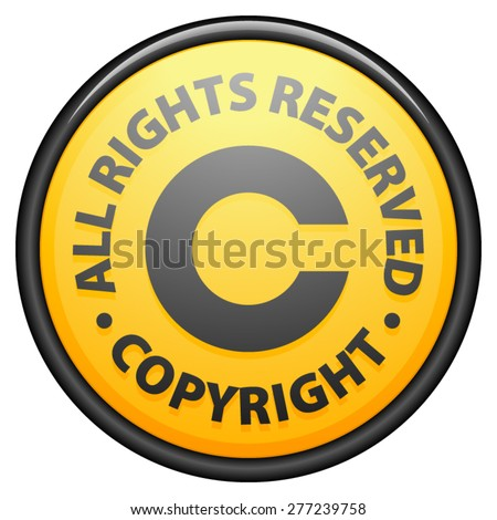 Copyright All rights reserved - stock vector