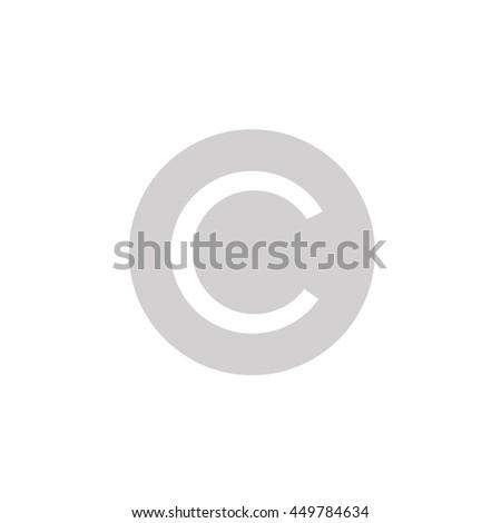 copyright C - stock vector