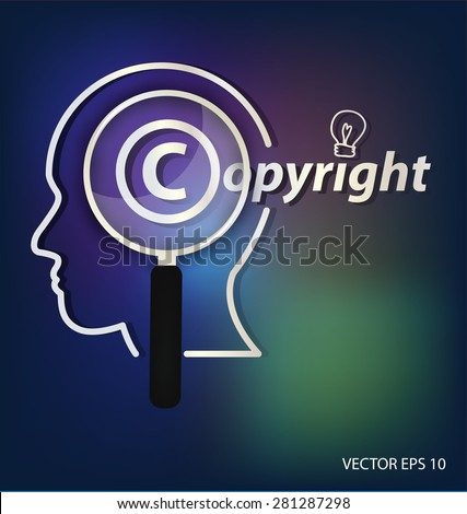 Copyright concept. vector illustration. - stock vector